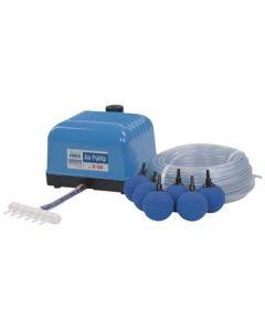 Aquaforte Hi-Flow Luftpumpenset V-30 inkl. Schlauch, Verteiler und Luftsteinen