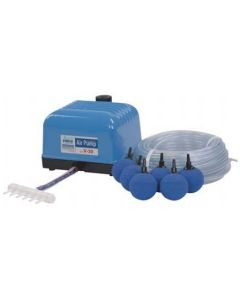 Aquaforte Hi-Flow air pump set V-20 including hose, distributor and air stones