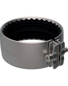 Manchon flexible avec connecteur de tension, acier inoxydable, 110mm