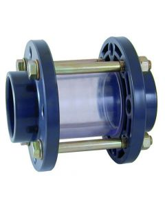 Sight glass 110mm heavy version with galvanized bolts