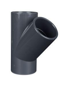 Tee PVC-U 45°