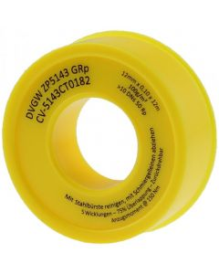 Teflon tape 12m x 12mm for sealing screw connections.